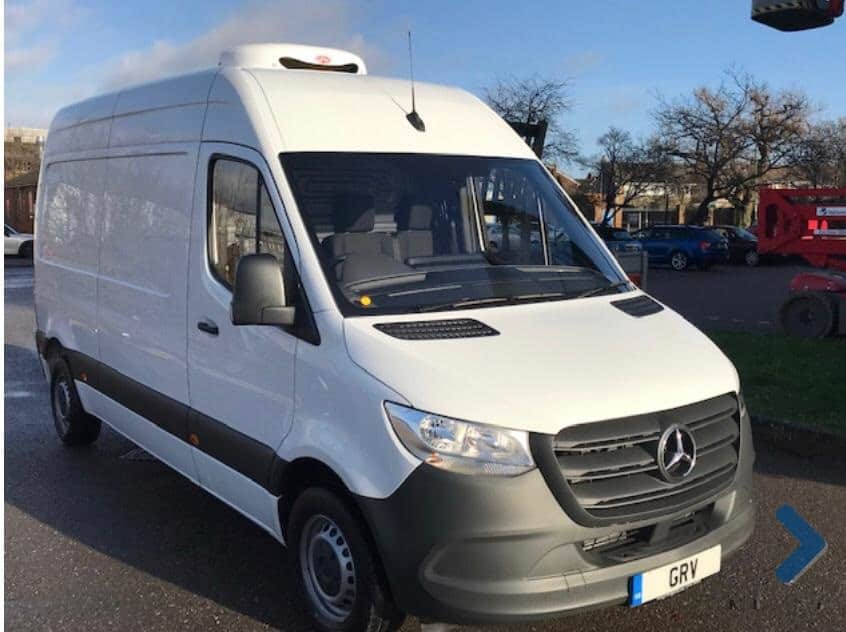 Two 2019 Mercedes Sprinter 314CDI L2 H2 Fridge Van For Sale
